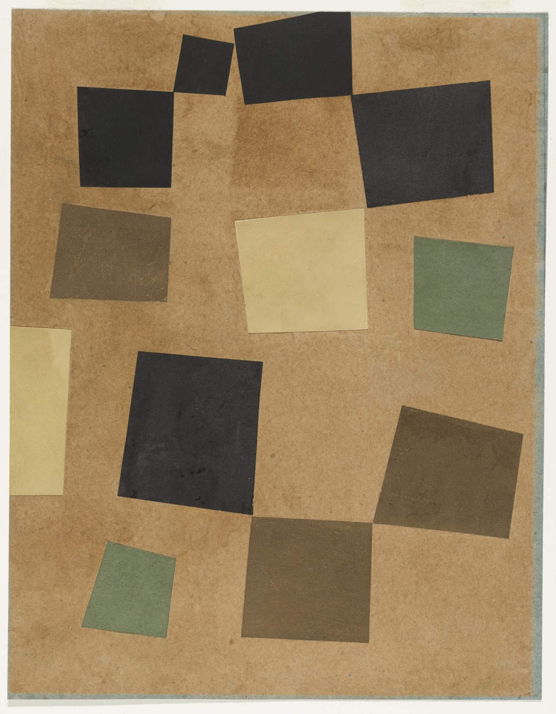 Jean (Hans) Arp,  Untitled (Collage with Squares Arranged according to the Laws of Chance) , 1917, Museum of Modern Art, New York.