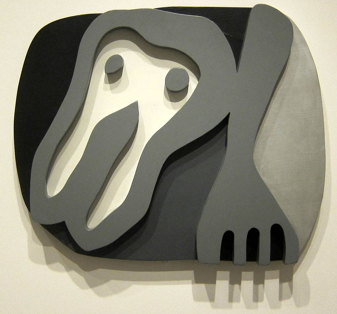 Jean (Hans) Arp,  Shirt Front and Fork  (painted wood), 1922, National Gallery of Art, Washington, D.C.