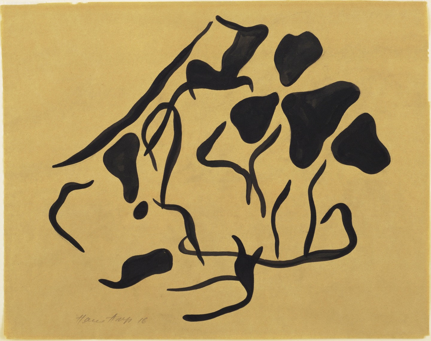 Jean (Hans) Arp,  Automatic Drawing , 1917-18 (inscribed 1916), Museum of Modern Art, New York.