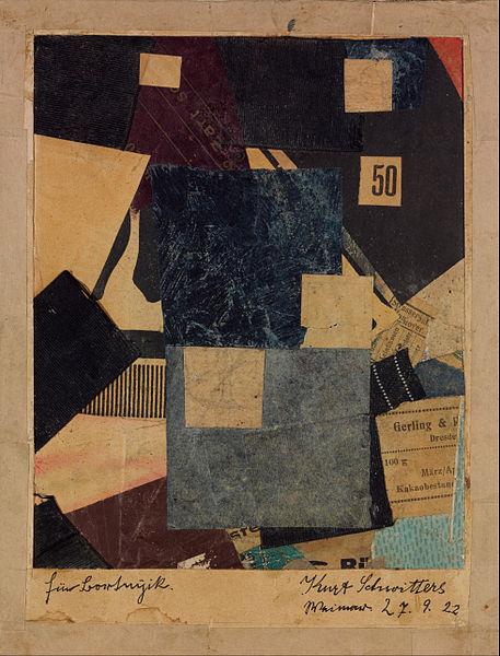 Kurt Schwitters,  Merz 50 Composition , 1922, Museum of Fine Arts, Budapest.
