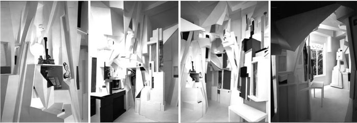 Kurt Schwitters,  The Merzbau (Cathedral of Erotic Misery) , 1923-1933, Hanover (Destroyed in an Air Raid). Installation covering six (or possibly more) rooms of Schwitters' family house in Hanover.
