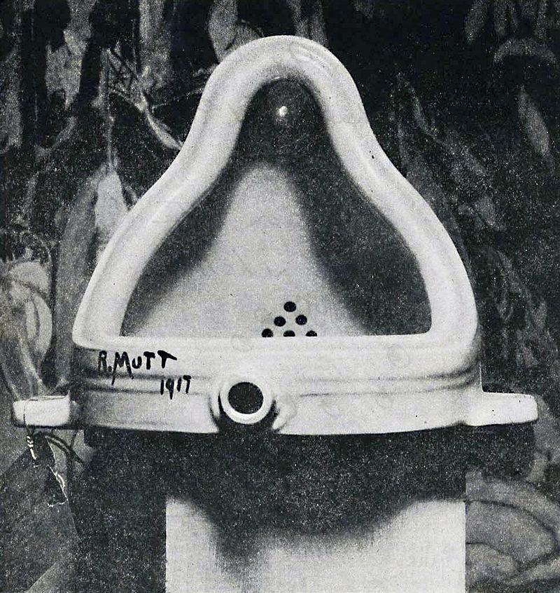 Marcel Duchamp,  Fountain , 1917. Original Lost.
