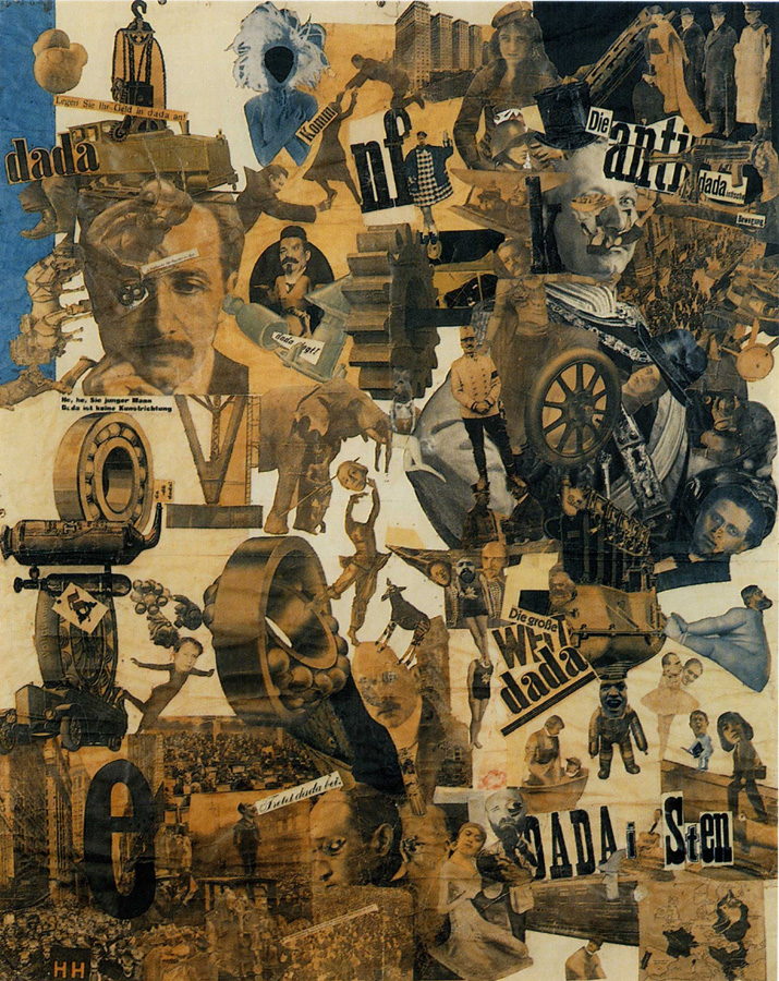Hannah Höch,  Cut with the Dada Kitchen Knife through the Last Weimar Beer-Belly Cultural Epoch in Germany , 1919, Berlin State Museum.