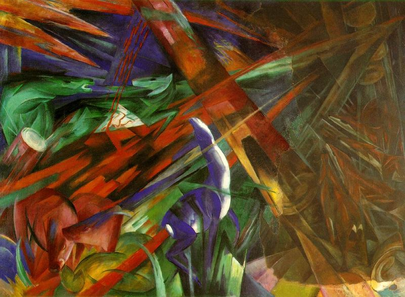 Franz Marc,  Fate of the Animals , 1913, Kunstmuseum, Basel.