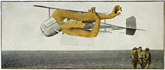 Max Ernst,  Murdering Airplane , 1920, Private collection.