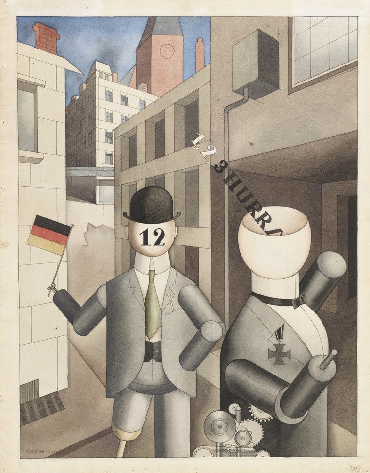 George Grosz,  Republican Automatons , 1920, Museum of Modern Art, New York.