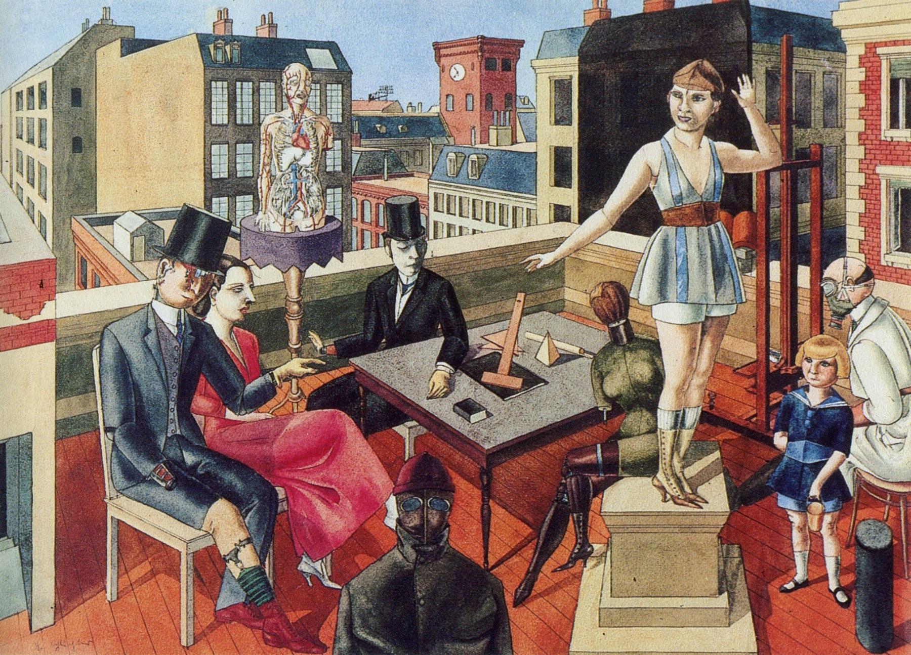 Rudolf Schlichter,  The Rooftop Studio,  c.1922, Gallery Nierendorf, Berlin.