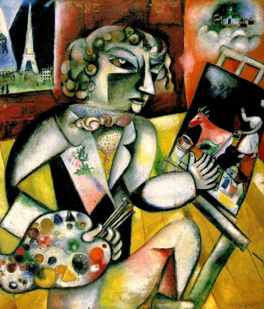 Marc Chagall,  Self-Portrait with Seven Fingers , 1913, Stedelijk Museum, Amsterdam.
