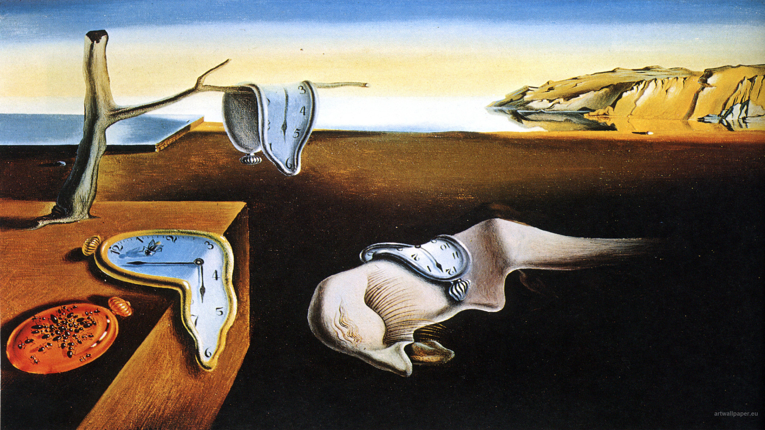 Salvador Dali,  The Persistence of Memory , 1931, Museum of Modern Art, New York.