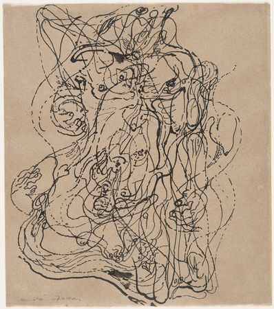André Masson.  Automatic Drawing . 1924, Museum of Modern Art, New York.