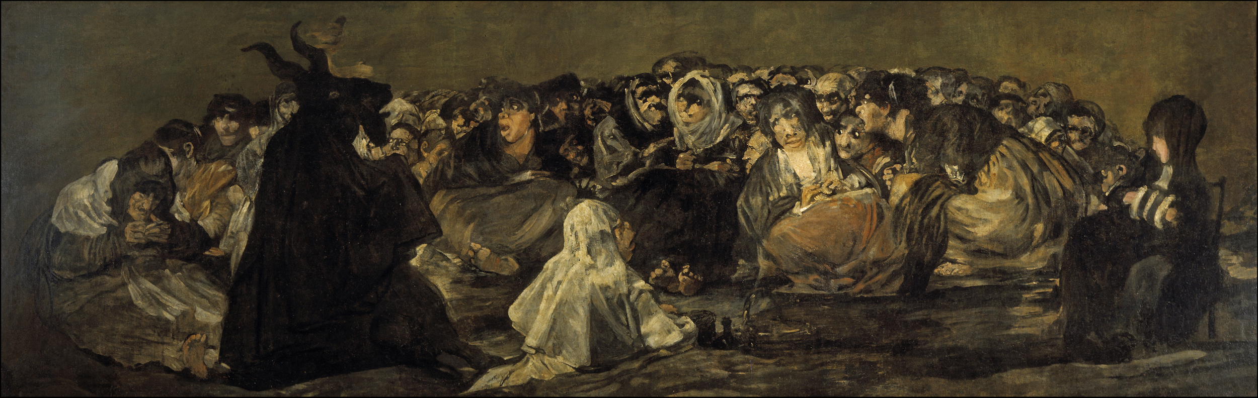 Francisco Goya,  Witches' Sabbath (The Great He-Goat) , 1821–23, Museo del Prado, Madrid.