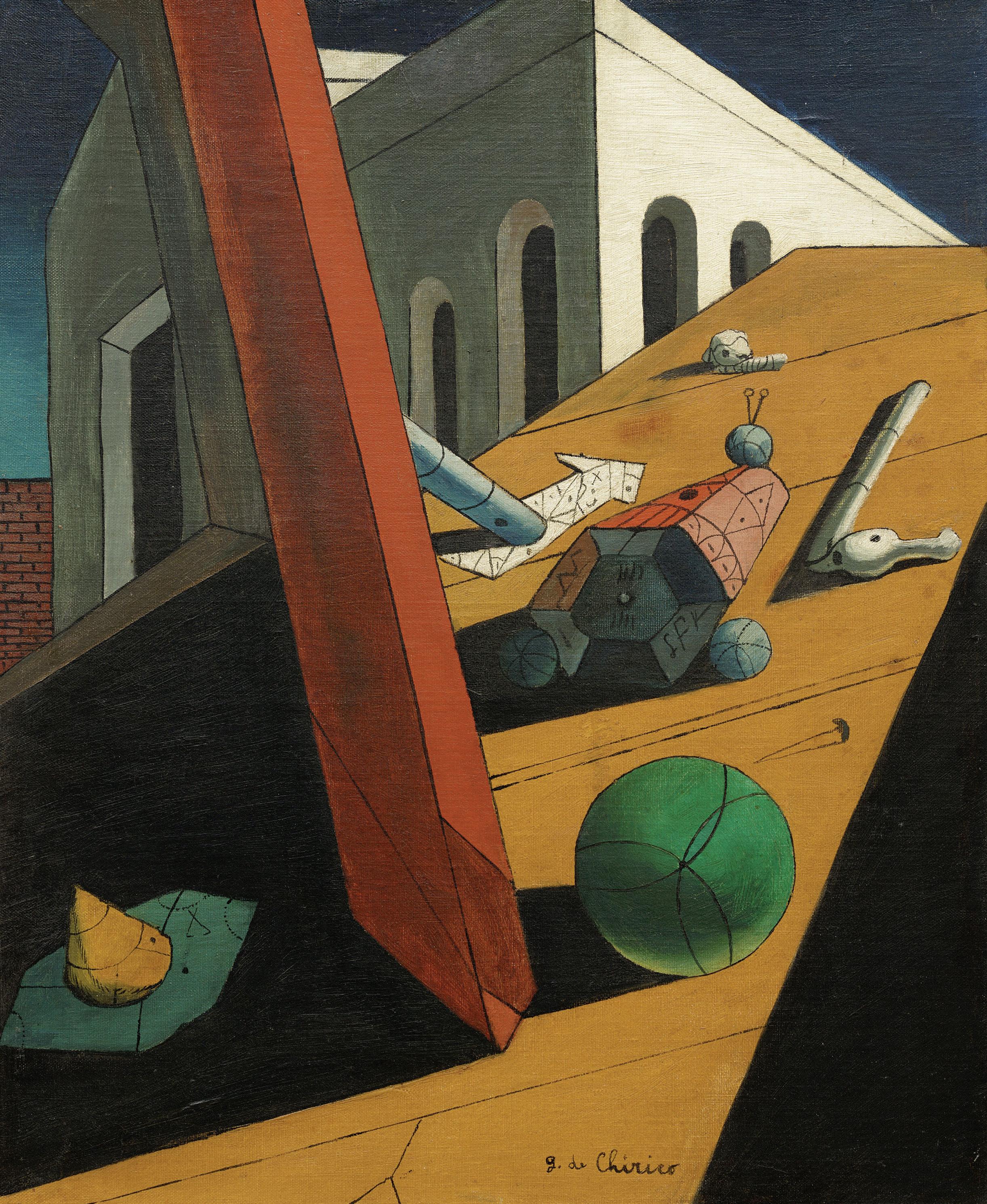 Giorgio de Chirico,  The Evil Genius of a King , 1914–15, Museum of Modern Art, New York.