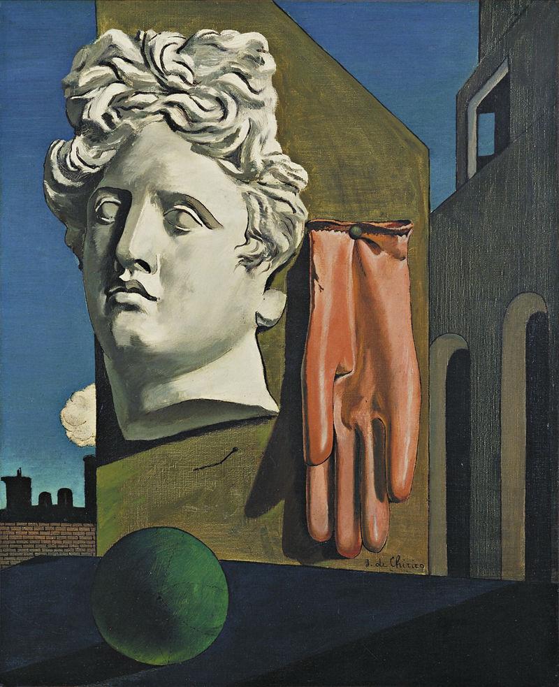 Giorgio de Chirico,  The Song of Love , 1914, Museum of Modern Art, New York.