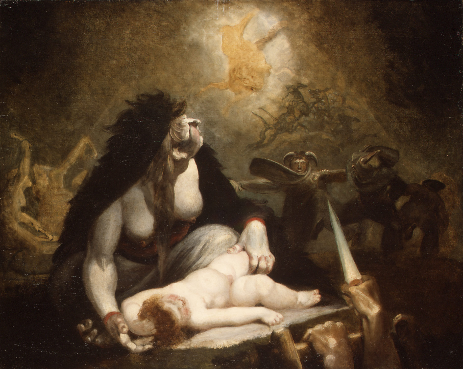 Henry Fuseli,  The Night-Hag visiting the Lapland Witches , 1796, Metropolitan Museum of Art, New York.