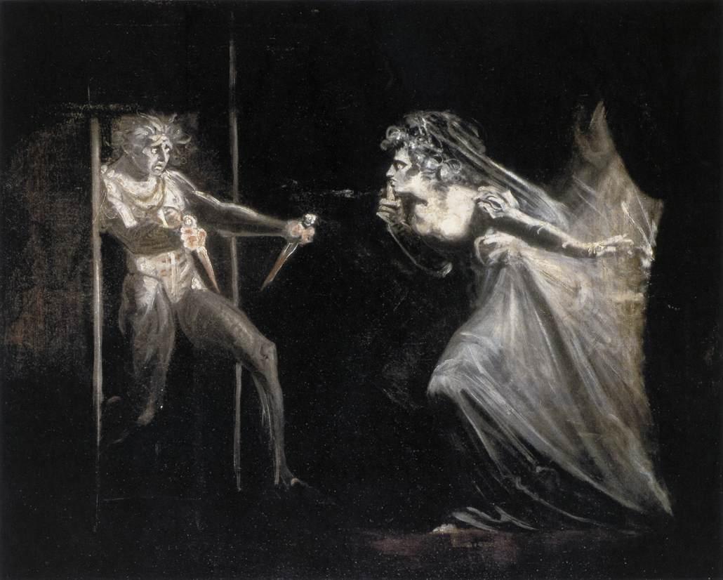 Henry Fuseli,  Lady Macbeth Seizing the Daggers , 1810–12, Tate Britain.