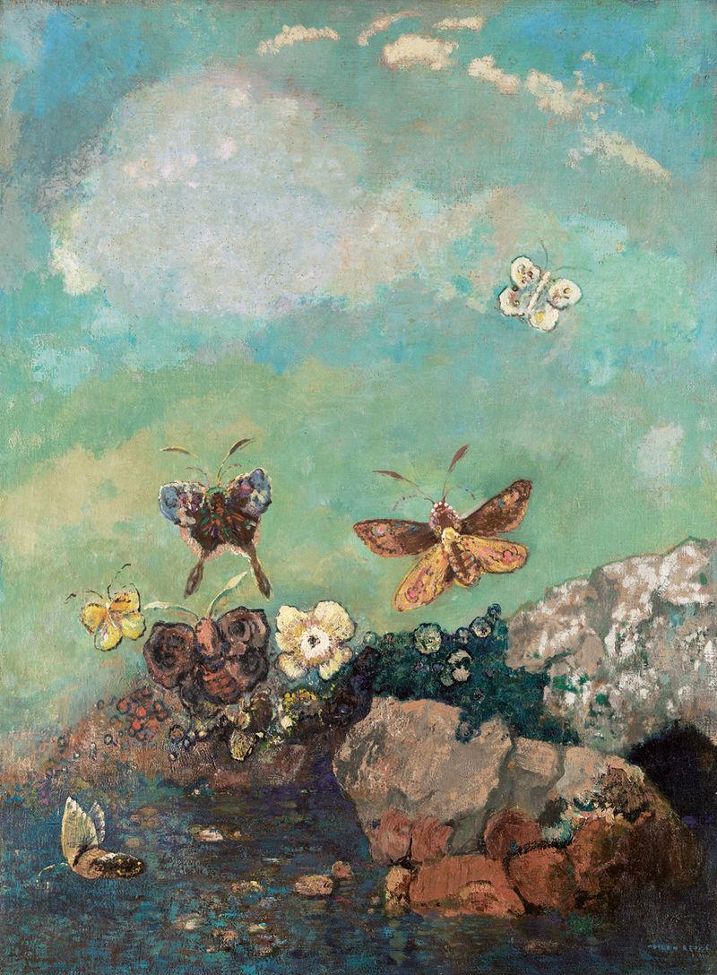 Odilon Redon,  Butterflies , c.1910, Museum of Modern Art, New York.