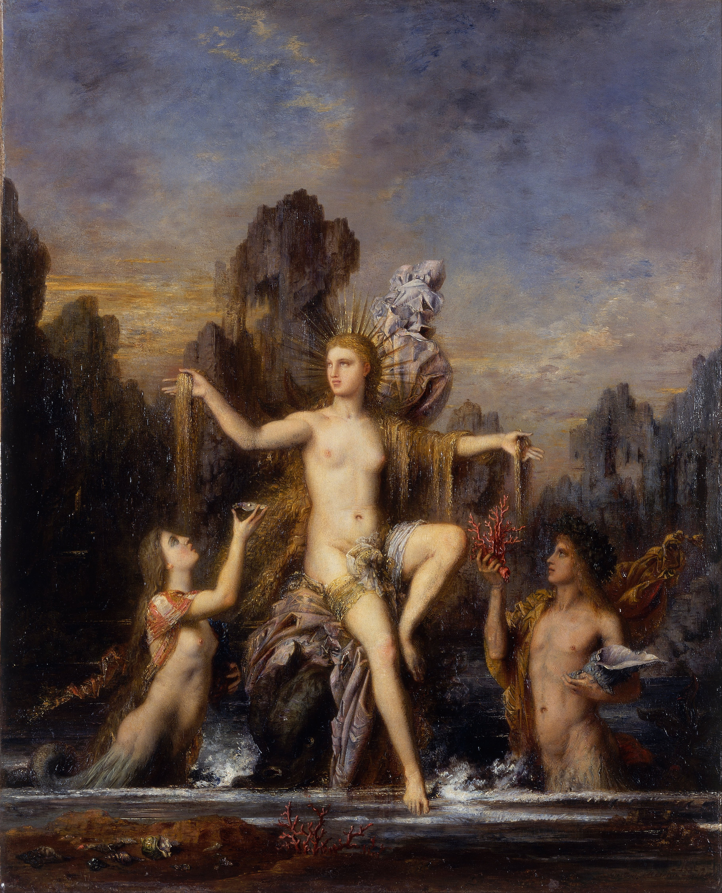 Gustave Moreau,  Venus Rising from the Sea , 1866, Israel Museum.
