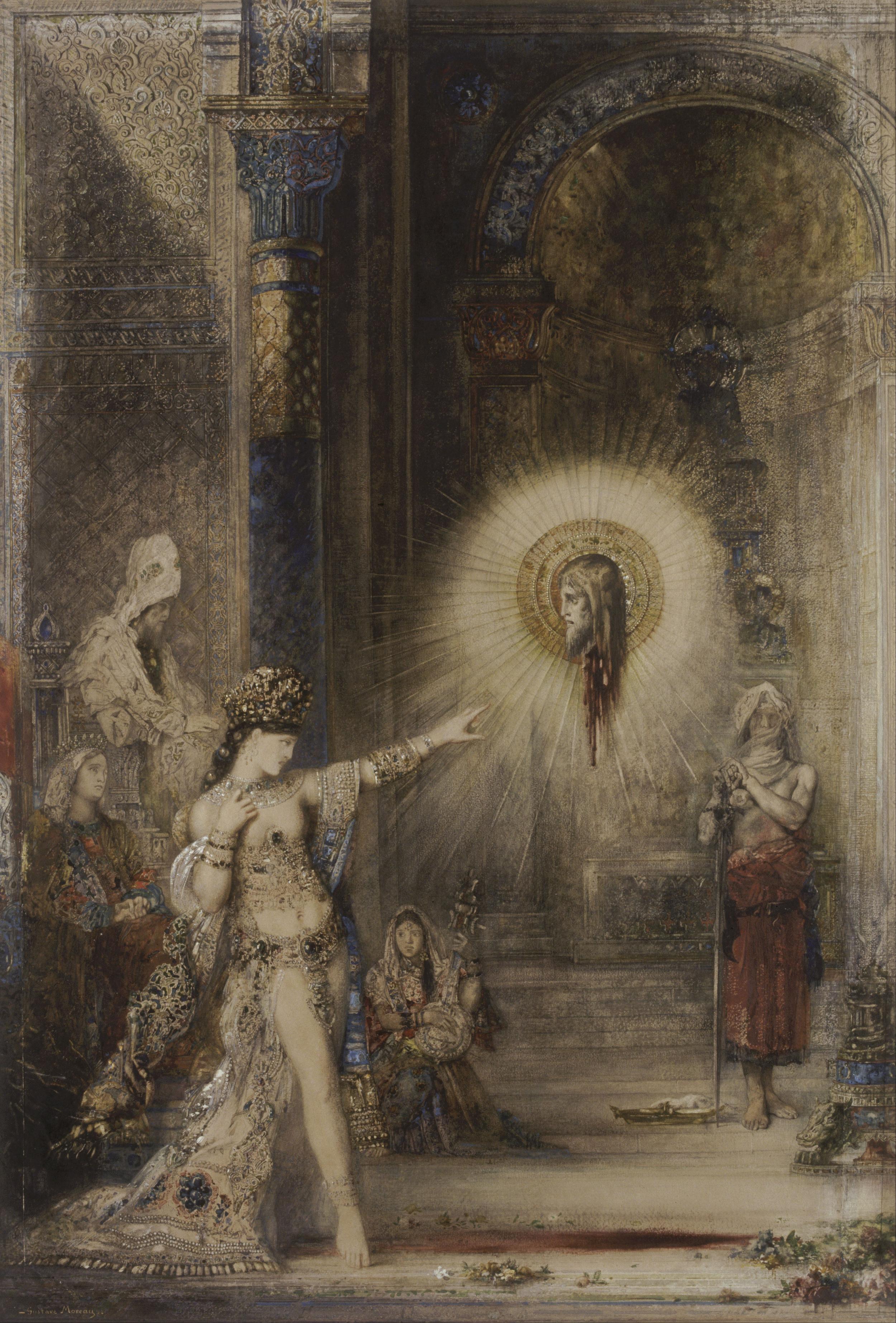 Gustave Moreau,  The Apparition , c.1876, Musée d'Orsay, Paris.