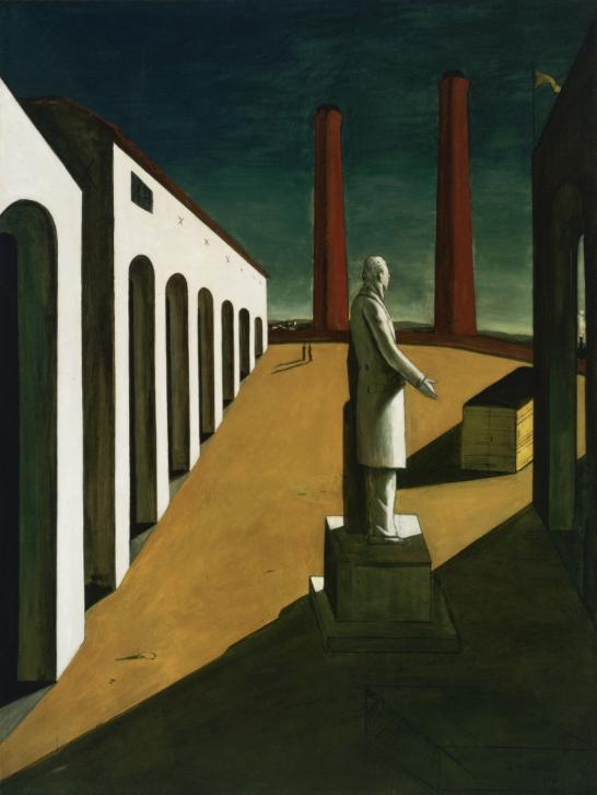 Giorgio de Chirico,  The Enigma of a Day , 1914, Museum of Modern Art, New York.