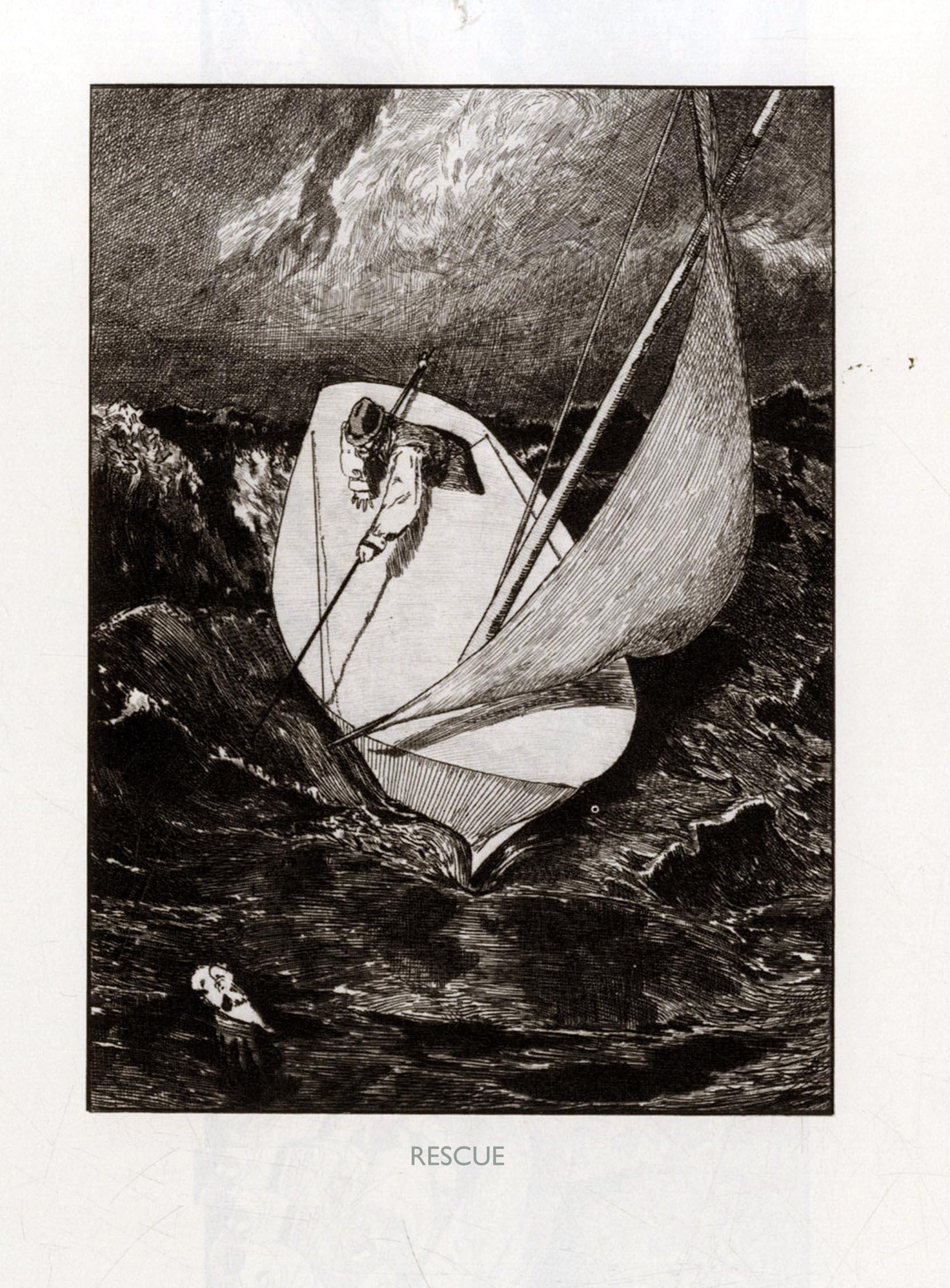 Max Klinger,  A Glove: Rescue , 1881.