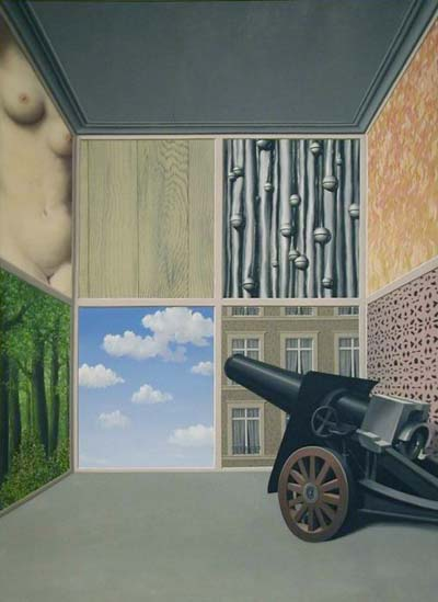 René Magritte,  On the Threshold of Liberty , 1937, Art Institute of Chicago.