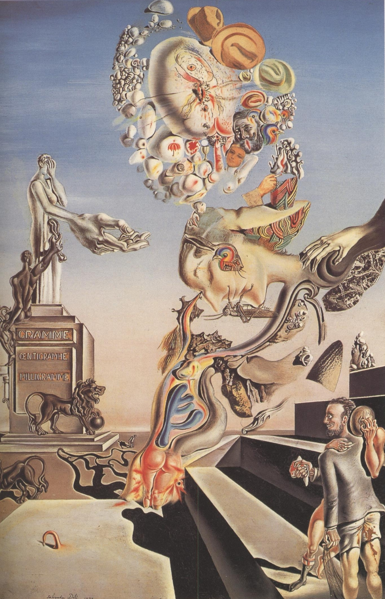 Salvador Dalí,  The Lugubrious Game , 1929, Private collection.