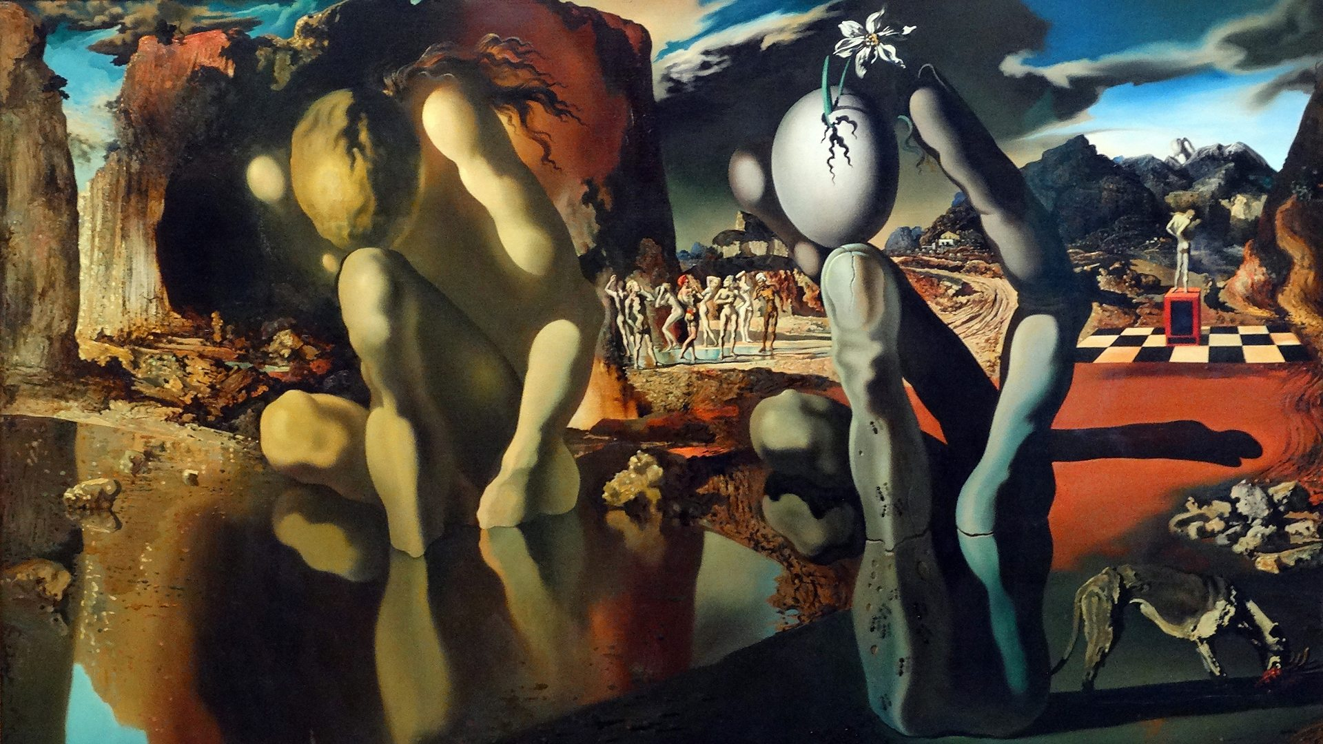 Salvador Dalí,  Metamorphosis of Narcissus , 1937, Tate Modern, London.