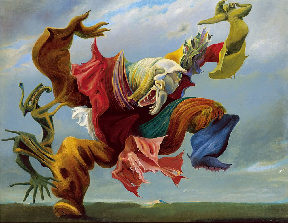 Max Ernst,  The Angel of the Fireplace  or  T  he Triumph of Surrealism,  1937, Private Collection.