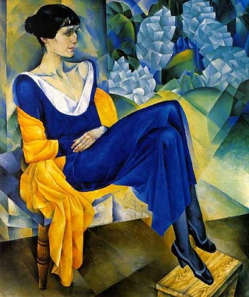 Nathan Altman,  Portrait of Anna Akhmatova , 1914, State Russian Museum, St. Petersburg.