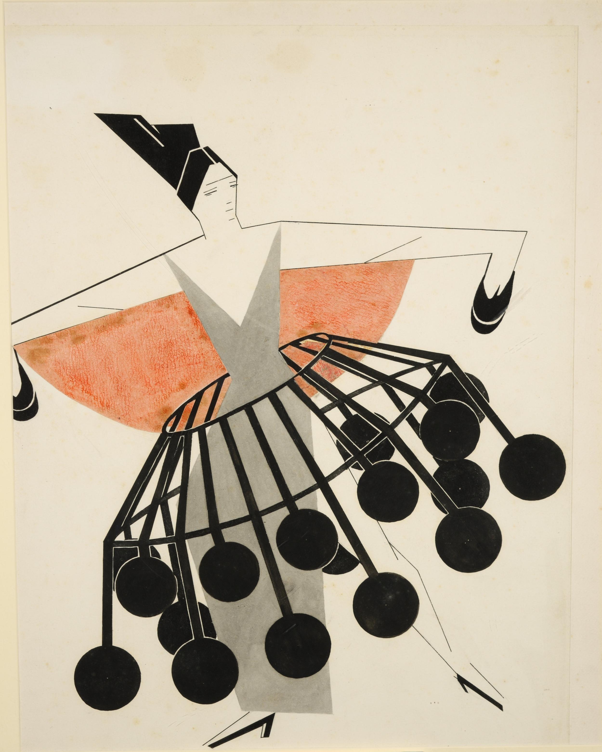 Alexandra Exter,  Sketch , 1924, Lobanov-Rostovsky Collection.