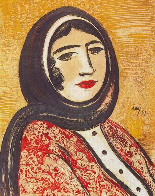 Alexander Shevchenko,  Wife's Portrait , 1905, Karakalpak Museum of Arts.