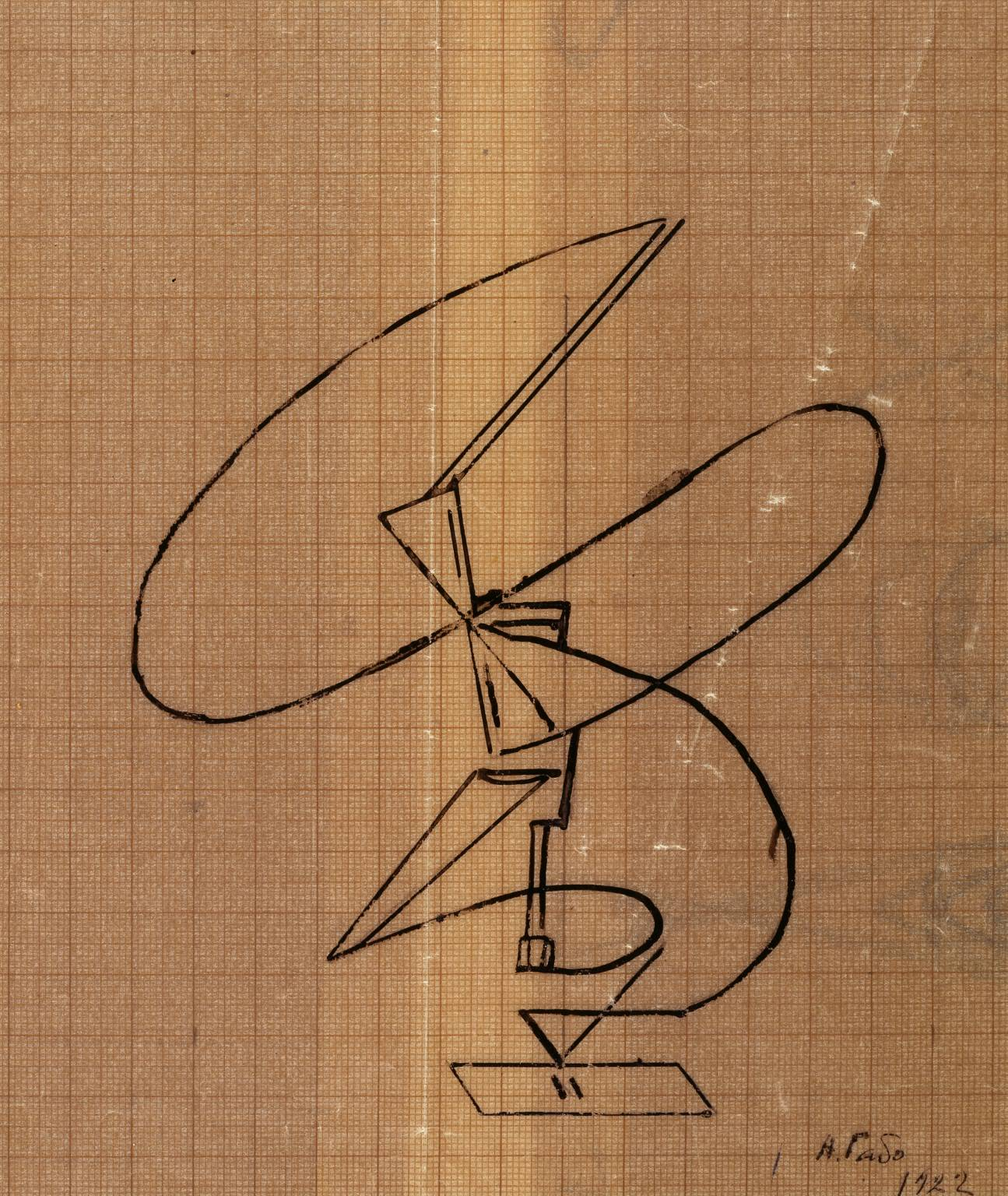 Naum Gabo,  Sketch for a Kinetic Construction , 1922, Tate Britain.