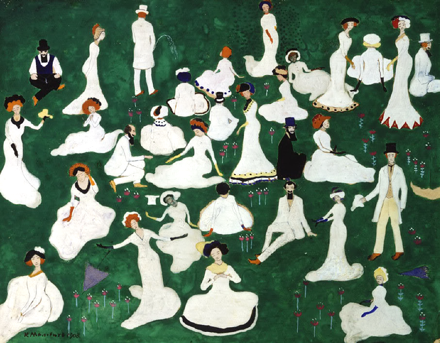 Kazimir Malevich,  Party , 1908, Private Collection.