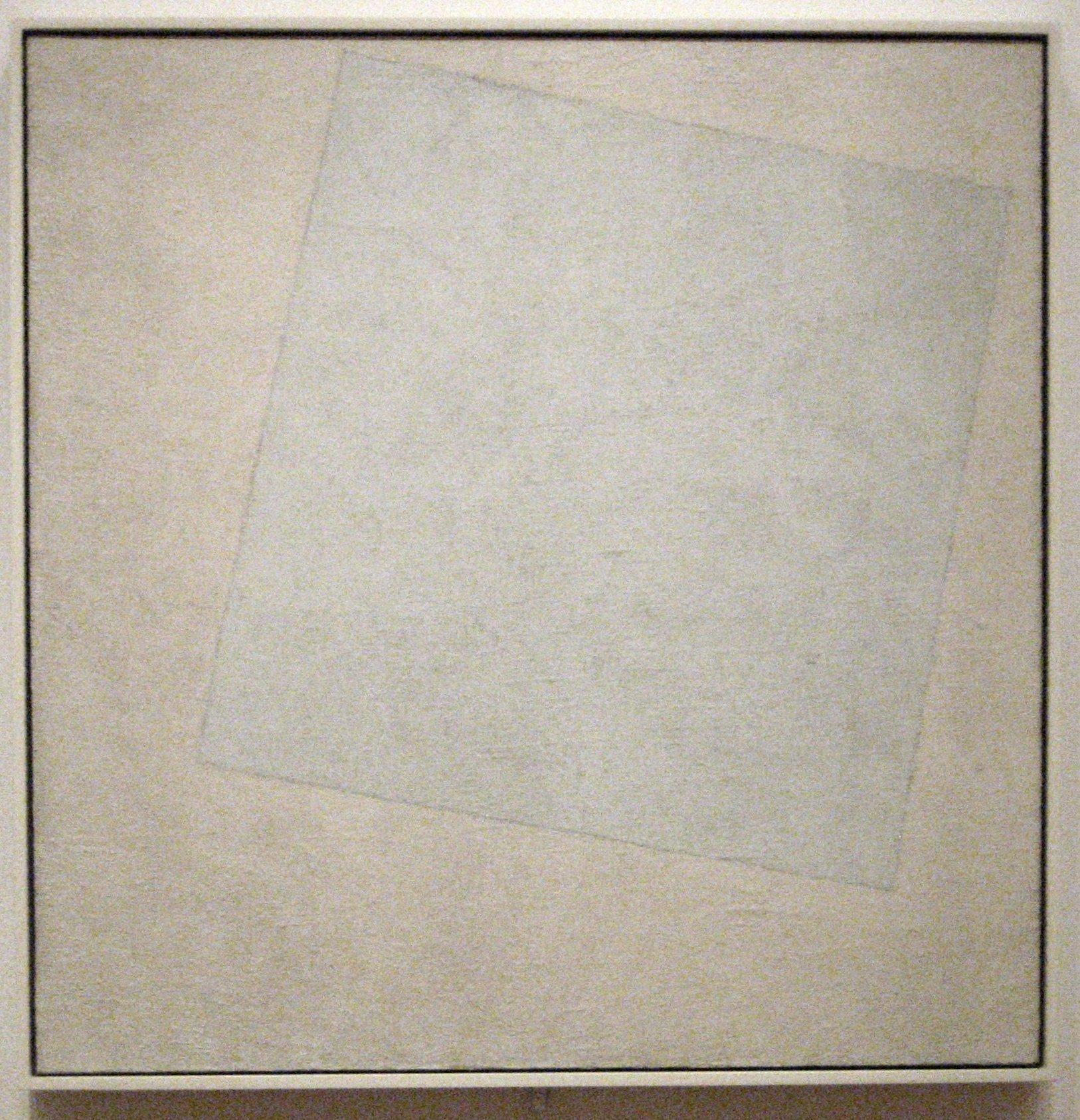 Kazimir Malevich,  Suprematist Composition- White on White , 1918, Museum of Modern Art, New York.