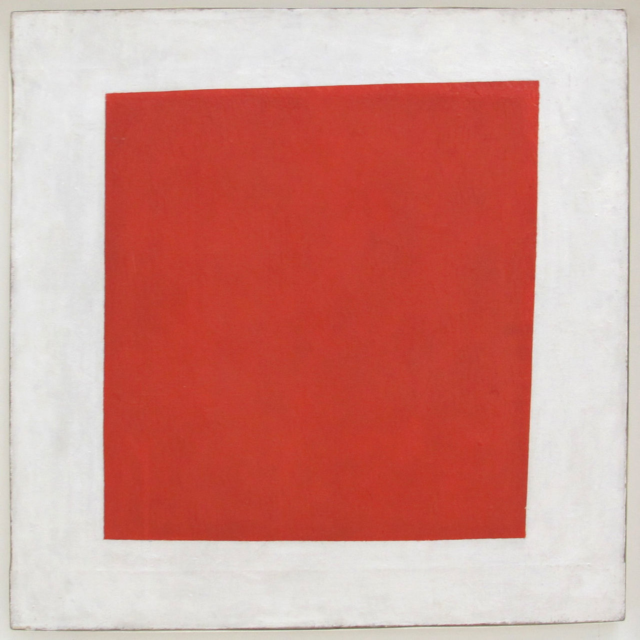 Kazimir Malevich,  Red Square: Painterly Realism of a Peasant Woman in Two Dimensions , 1915, State Russian Museum, St. Petersburg.