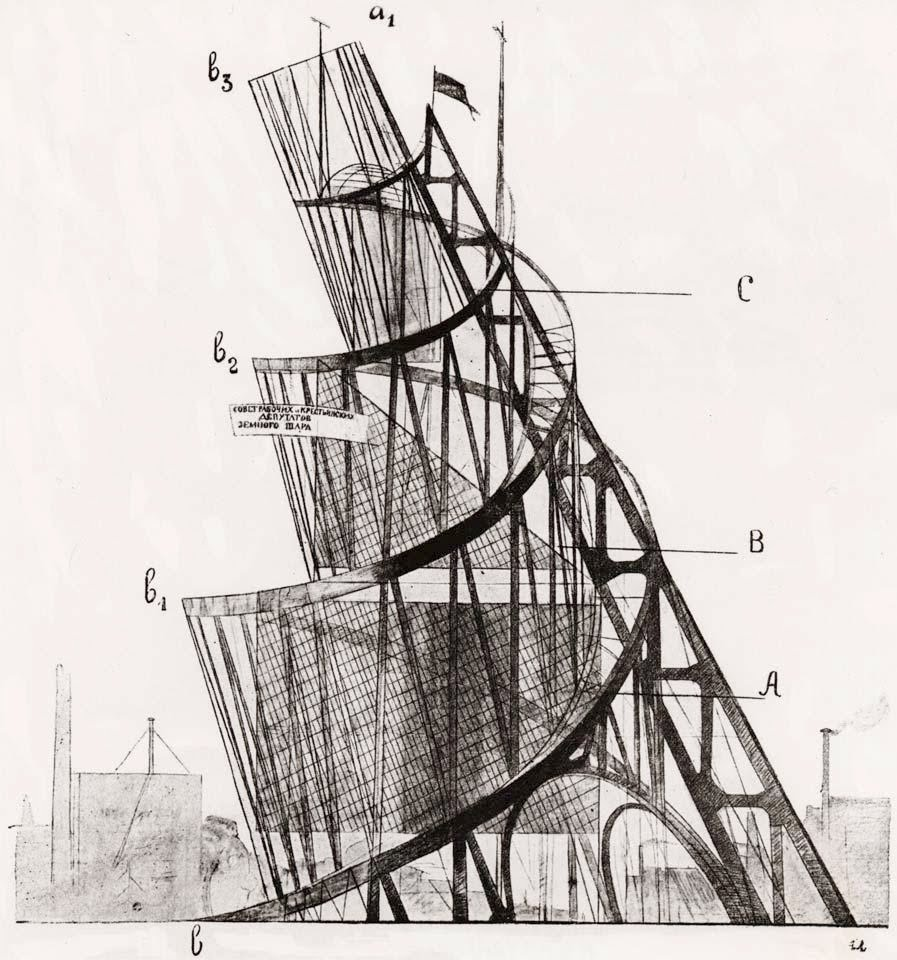 Vladimir Tatlin,  Monument to the Third International , 1919–20. (Never Completed).