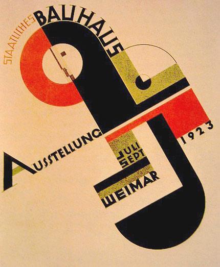 Joost Schmidt,  Poster for the 1923 Bauhaus Exhibition in Weimar , 1923.