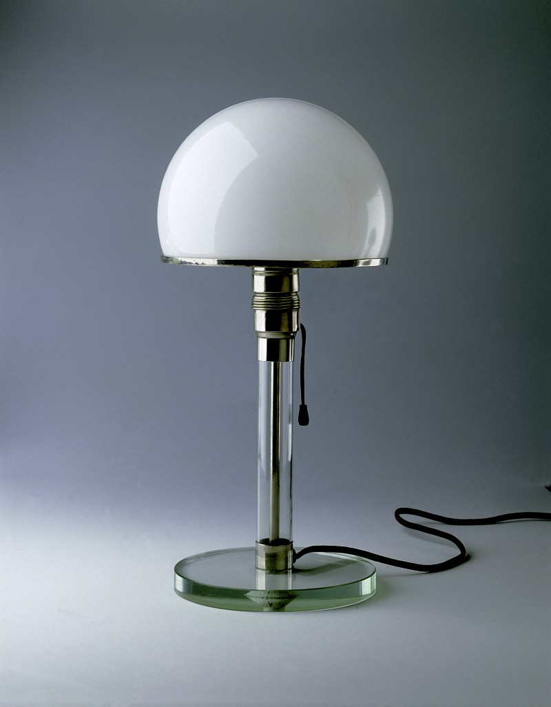 Wilhelm Wagenfeld and Carl Jakob Jucker,  Table lamp MT 9 , 1923-1924.