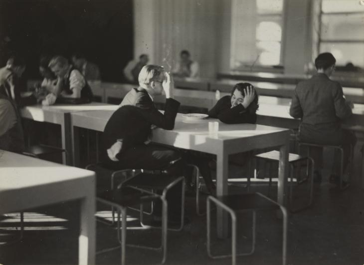 Iwao Yamawaki,  Cafeteria after lunch , Bauhaus, Dessau, 1930-2.
