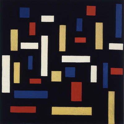 Theo van Doesburg,  Neoplasticism: Composition VII (The Three Graces) , 1917,Mildred Lane Kemper Art Museum, St. Louis.