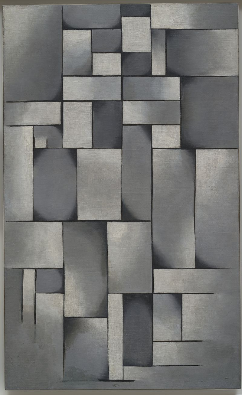Theo van Doesburg,  Composition in Gray (Rag-time) , 1919, Peggy Guggenheim Collection, Venice.