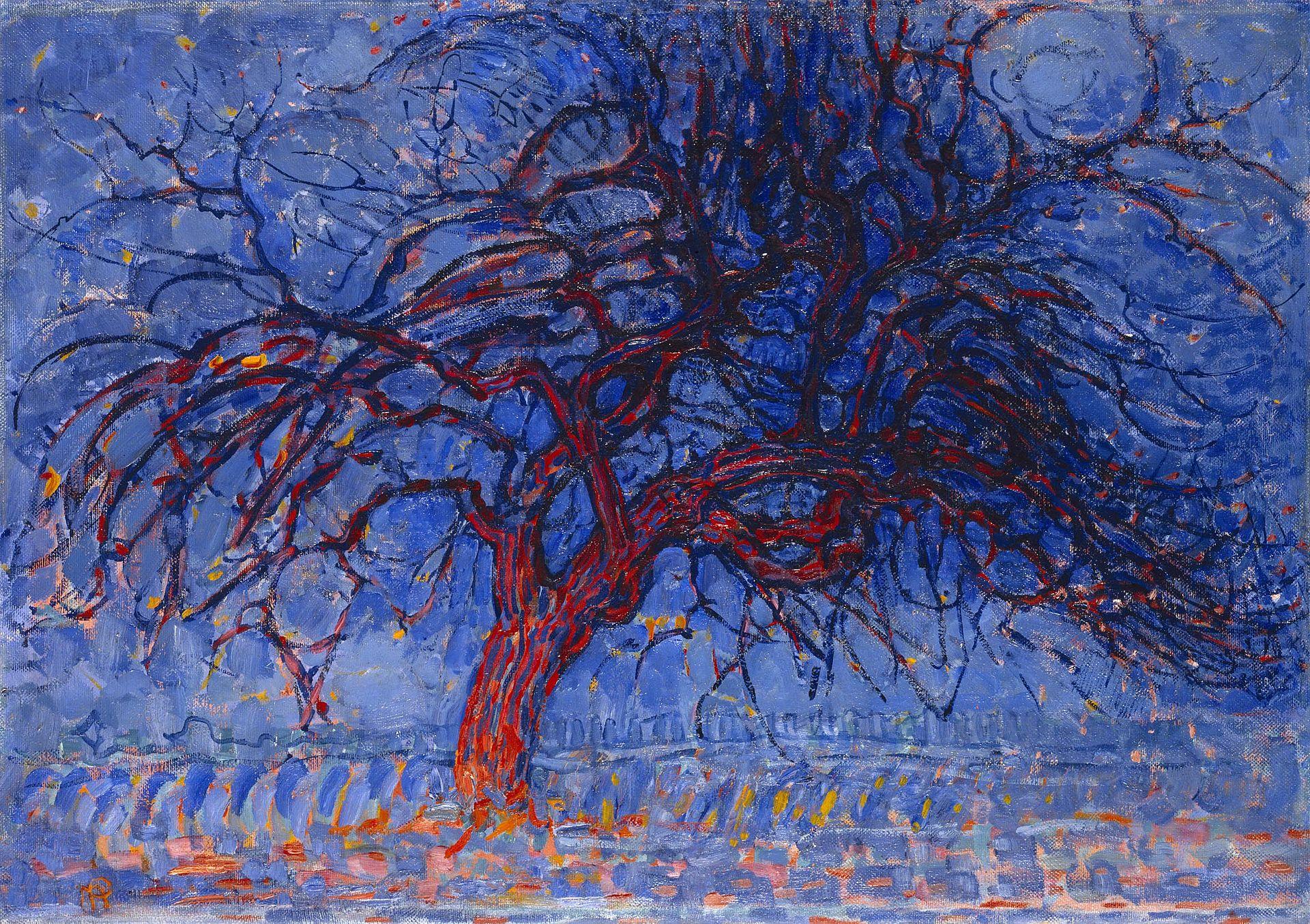 Piet Mondrian,  Evening; Red Tree , 1908–10, Municipal Museum, The Hague.