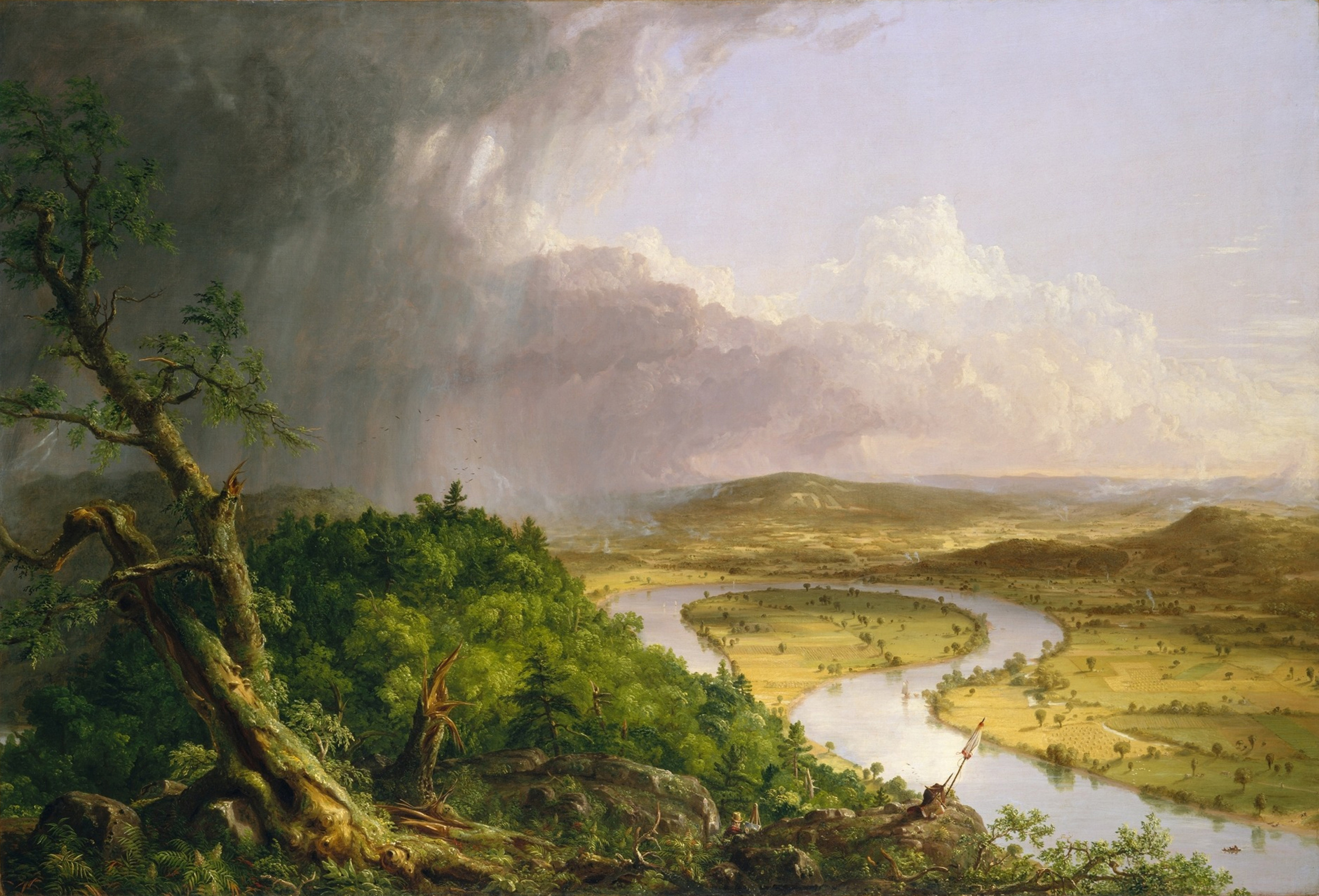 Thomas Cole,  The Oxbow, View from Mount Holyoke, Northampton, Massachusetts, after a Thunderstorm , 1836, The Metropolitan Museum of Art, New York.