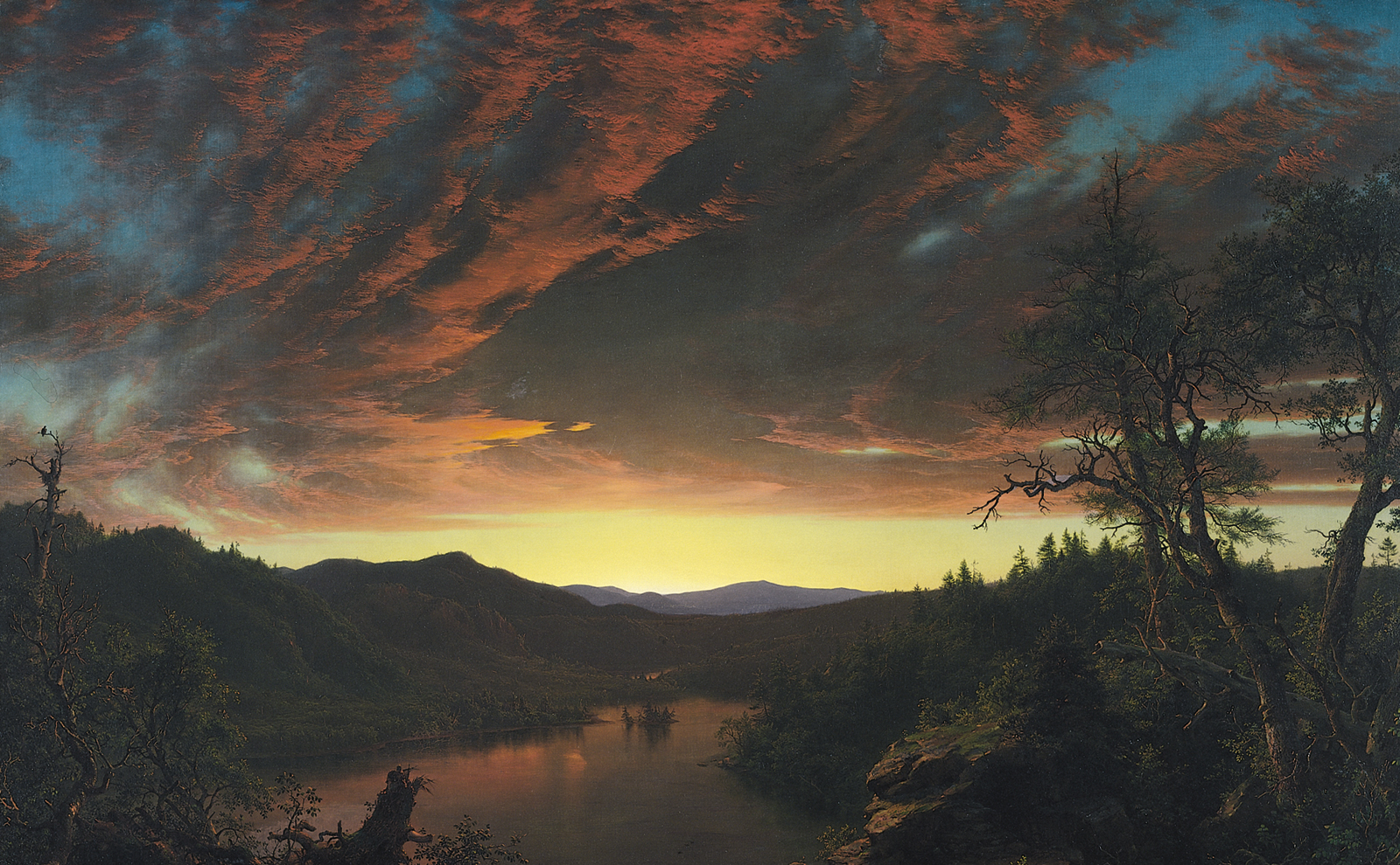 Frederic Church,  Twilight in the Wilderness , 1860, Cleveland Museum of Art.