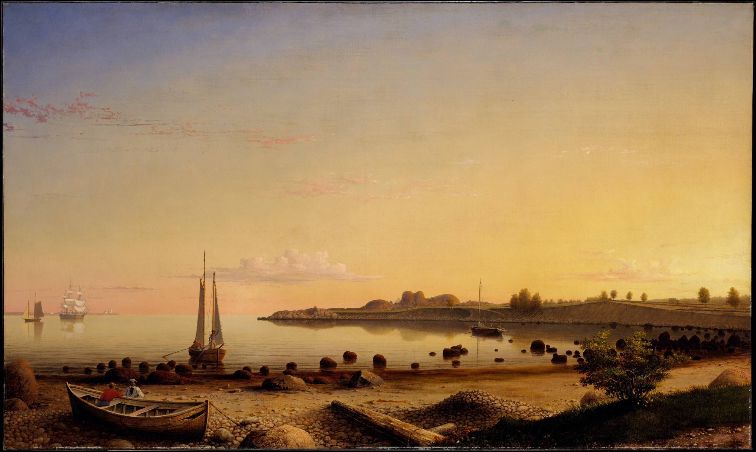 Fitzhugh Lane,  Stage Fort across Gloucester Harbour , 1862, Metropolitan Museum, New York.