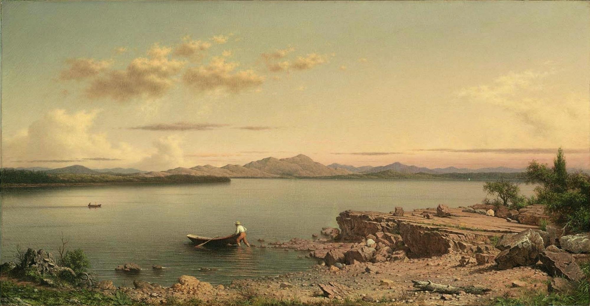 Martin Johnson Heade,  Lake George , 1862, Museum of Fine Arts, Boston.