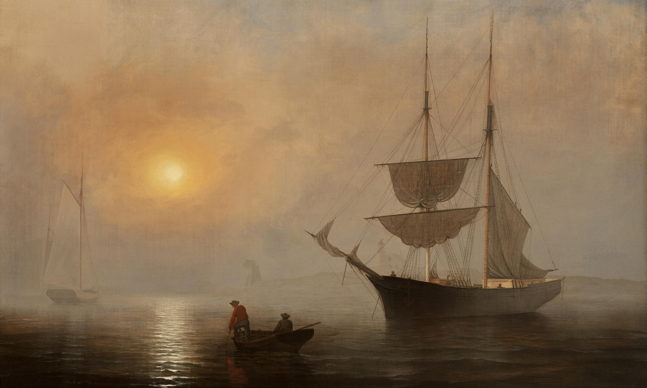 Fitzhugh Lane,  Ship in Fog , Gloucester Harbour, c.1860, Princeton University Art Museum.