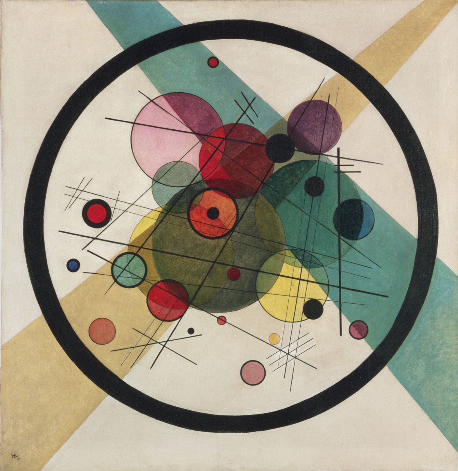 Wassily Kandinsky,  Circles in a Circle , 1923, Philadelphia Museum of Art.
