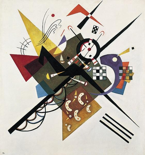 Wassily Kandinsky,  On White II , 1923, Centre Georges Pompidou, Paris.