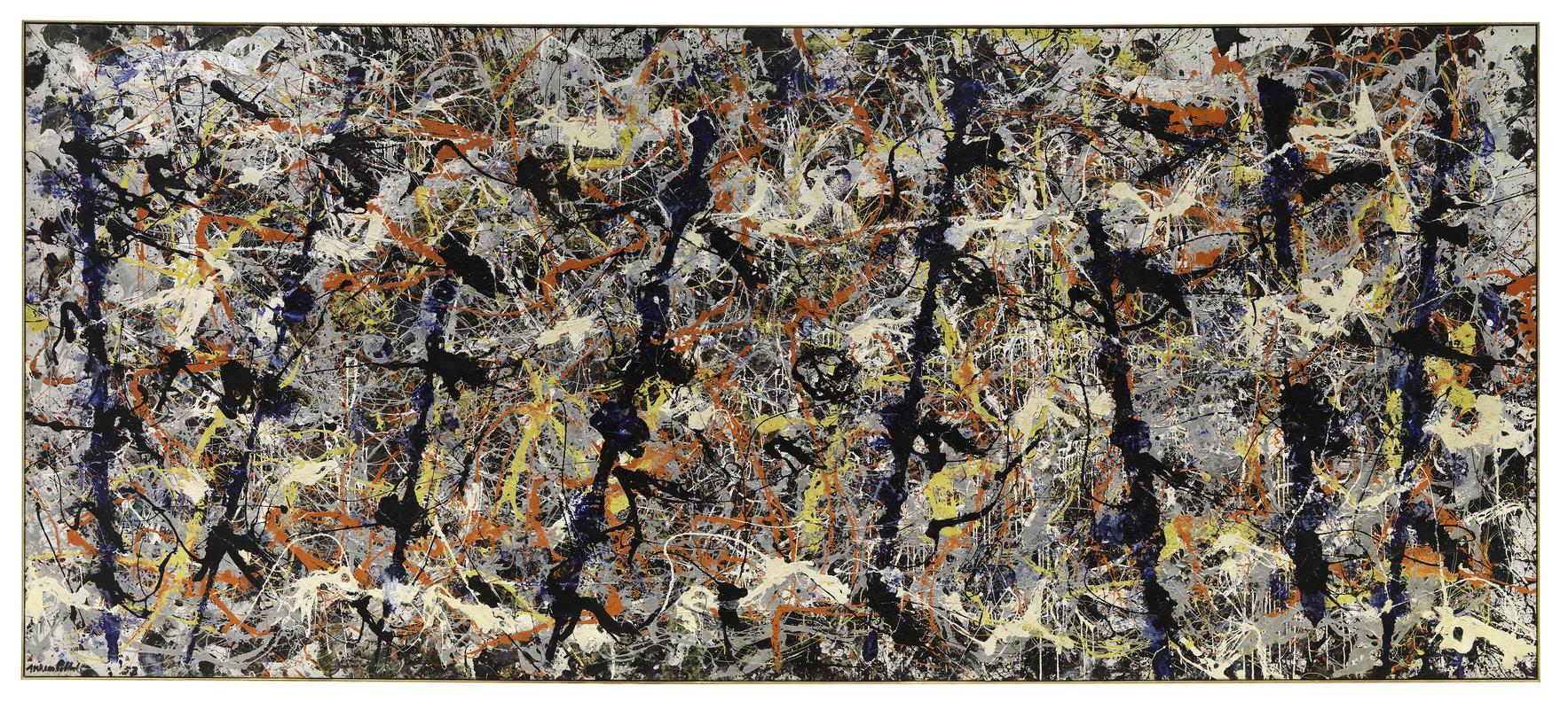 Jackson Pollock,  Blue Poles , 1952, National Gallery of Australia, Canberra.
